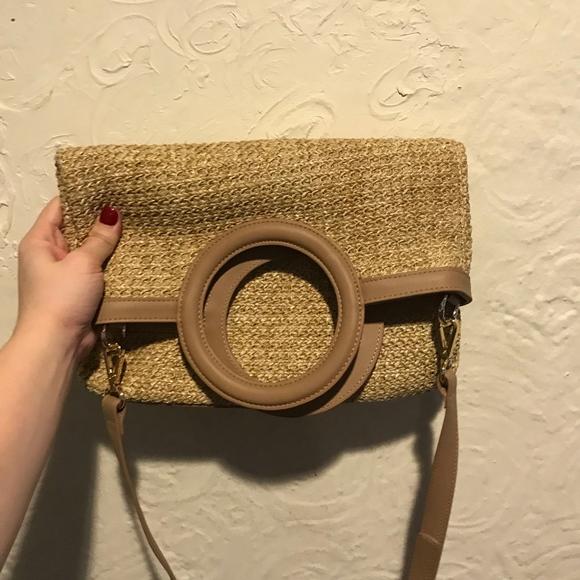 Studio33 Handbags - Studio33 Natural Straw Crossbody Bag